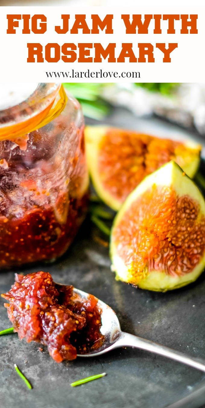 Super easy fig jam with rosemary