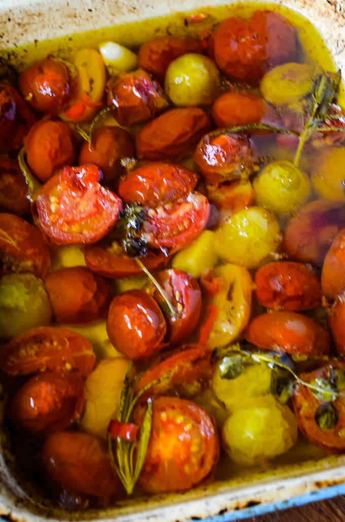 confit tomatoes after cooking