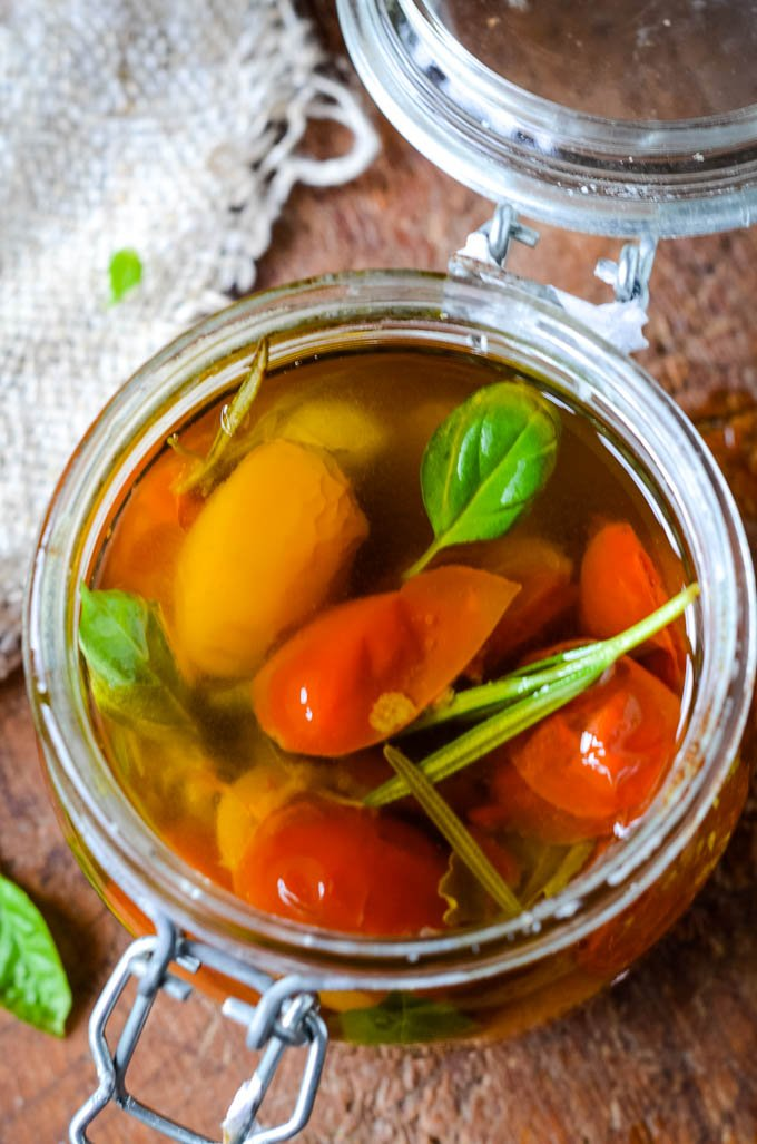 tomatoes in jar