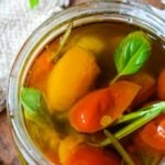 preserved confit tomatoes in olive oil