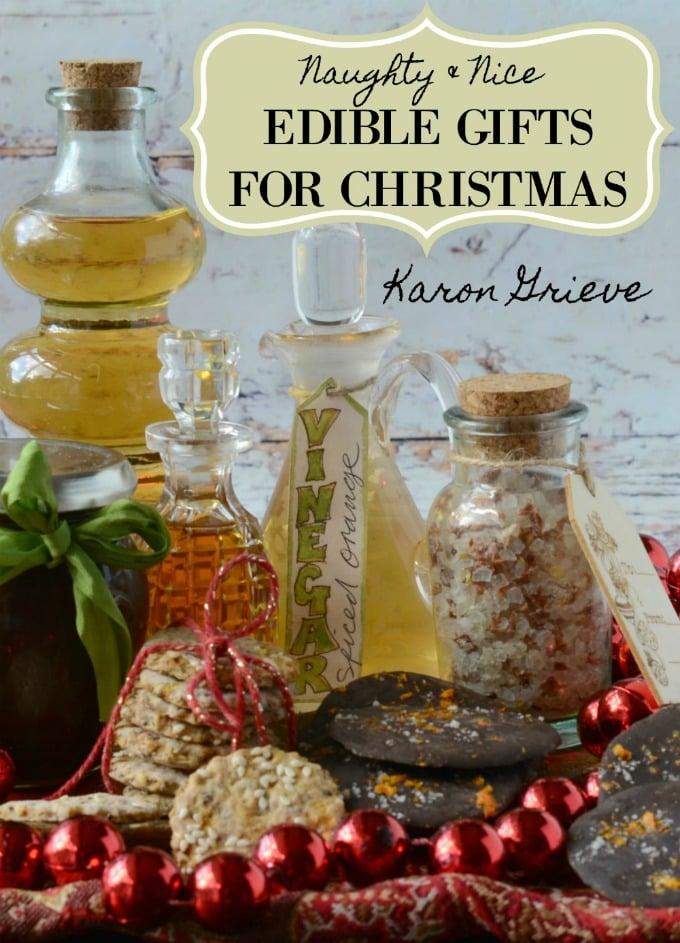 Naughty and nice edible gifts for Christmas book cover