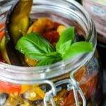 Mediterranean vegetables in oil