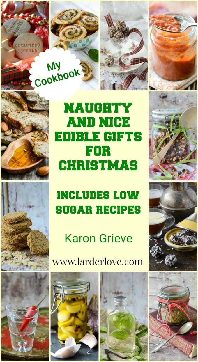 naughty and nice edible gifts for Christmas pin image