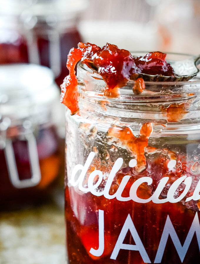 spiced plum and apple jam
