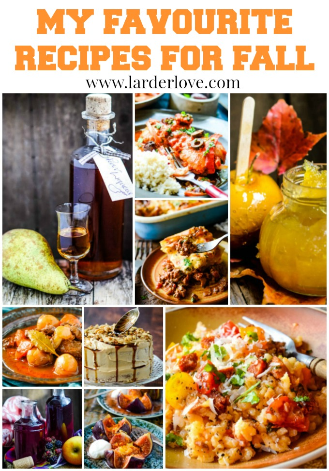 favourite recipes for fall pin image