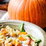 pumpkin and sage risotto by larderlove.com