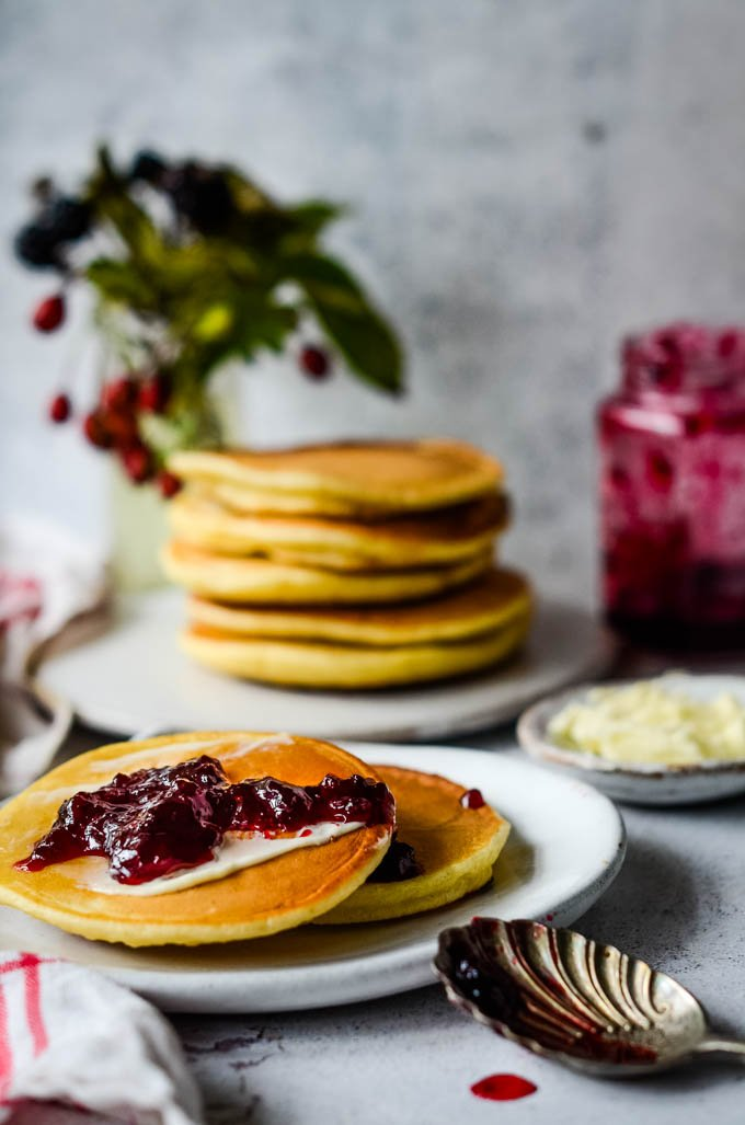 drop scones with jam
