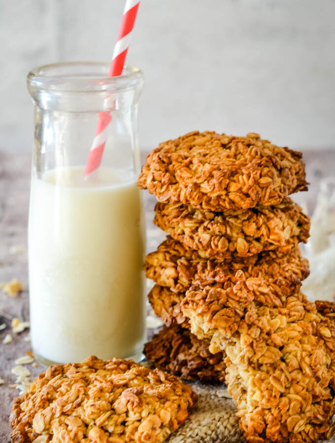 3 ingredient oatmeal peanut butter cookies