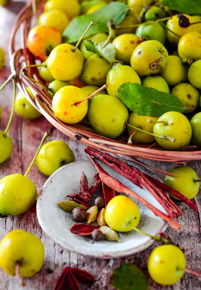 crab apples and spices