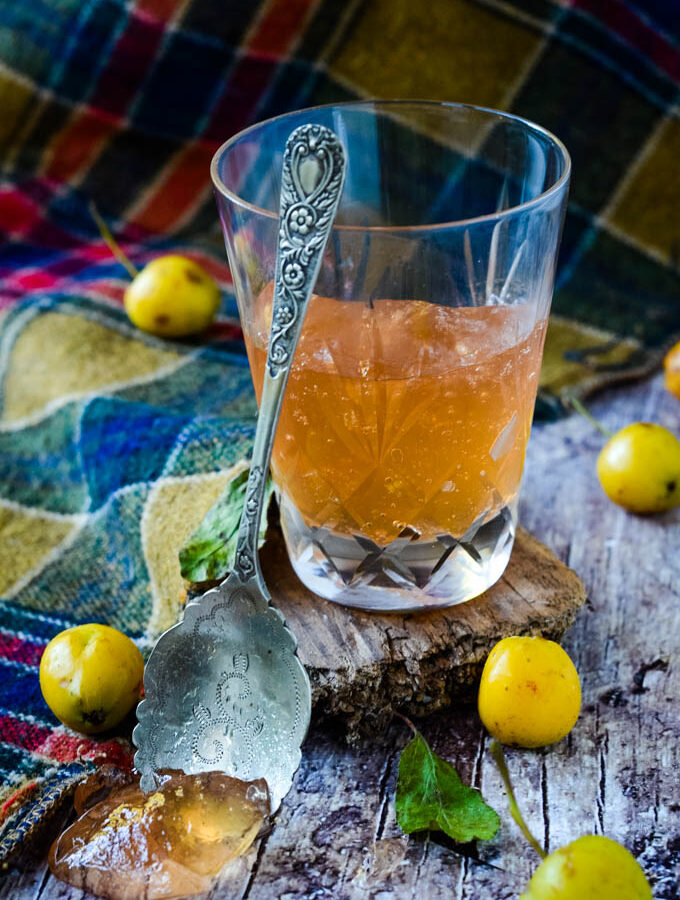 spiced crab apple jelly with scotch whisky