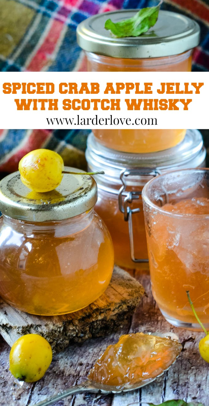 spiced crab apple jelly with scotch whisky pin image