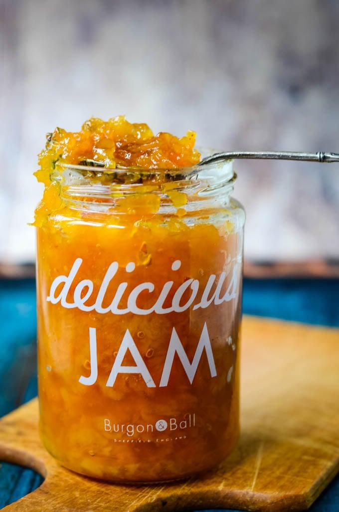 spoon over jar