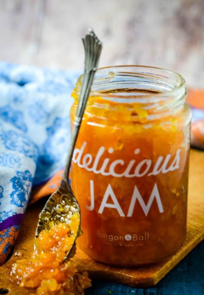 spoon at side of jar