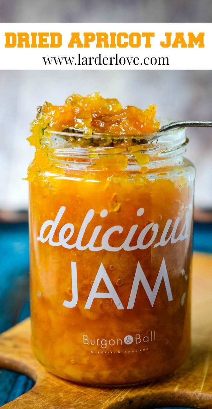 3 ingredient dried apricot jam pin image