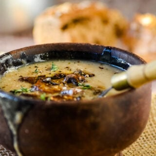 rich and creamy mushroom soup