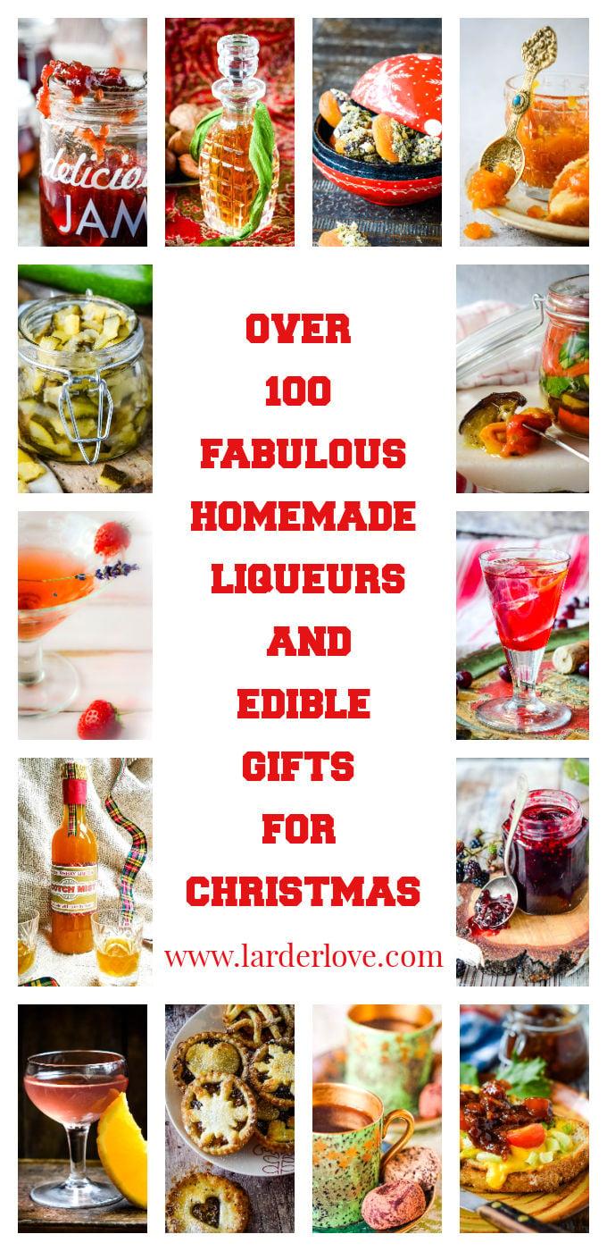 homemade liqueurs and edible gifts pin image