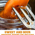 sweet and sour pickled pears