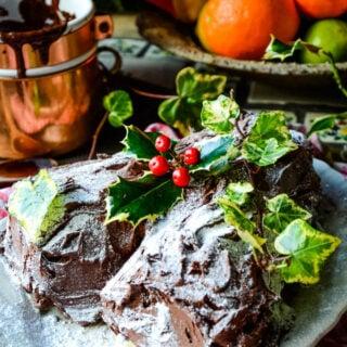 Buche de Noel finished cake