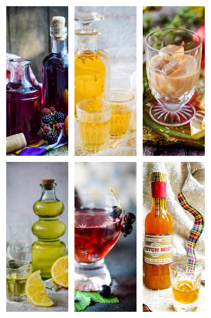 homemade liqueurs assorted images