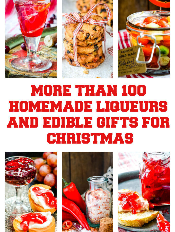 100+ homemade liqueurs and edible gifts for Christmas by larderlove.com