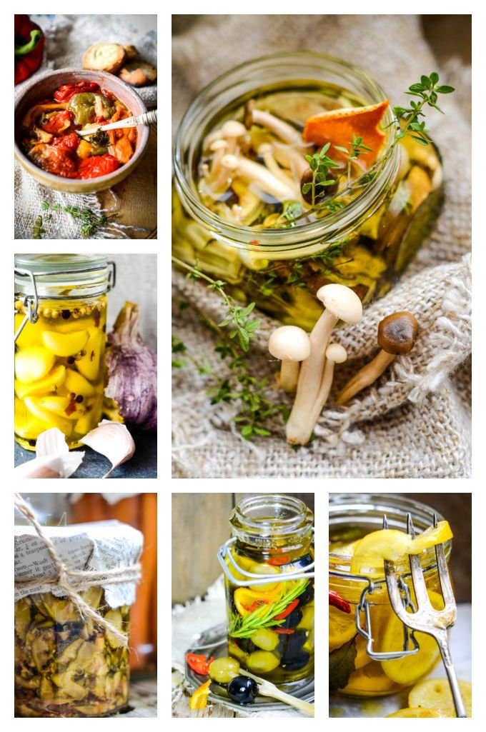 homemade edible gifts - preserved in oil