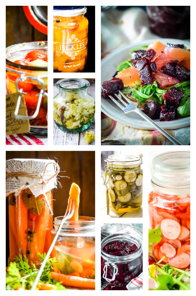 homemade liqueurs and edible gifts - pickles