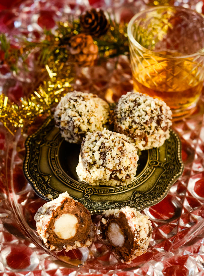 truffles with an open truffle at front