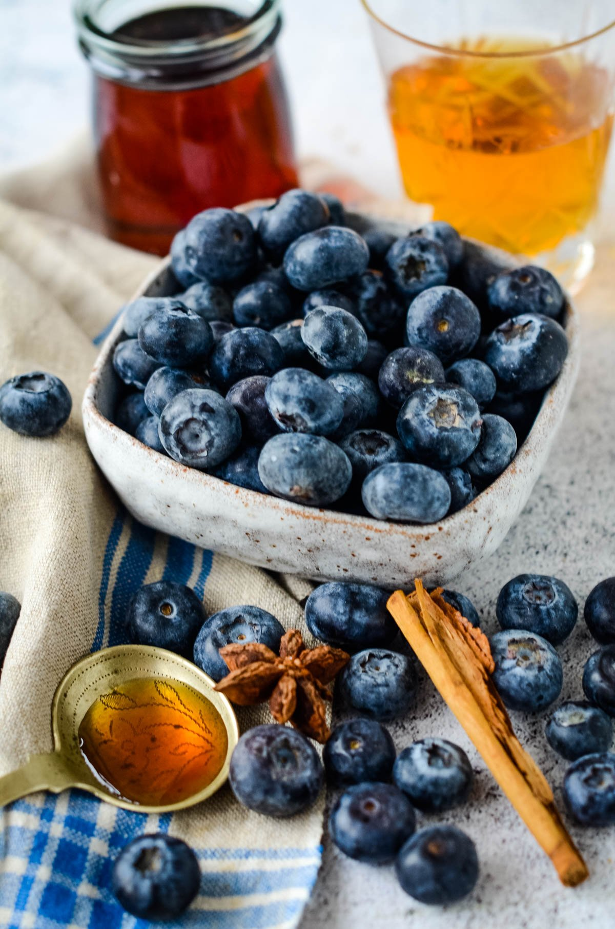 ingredients for blueberry pancake syrup