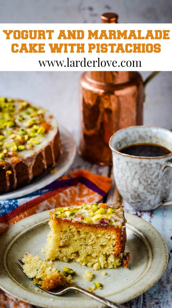 yogurt and marmalade cake pin image