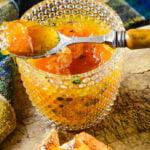 orange pomegranate and mint marmalade pin image