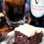 Guinness chocolate brownies pin image