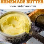 homemade butter pin image