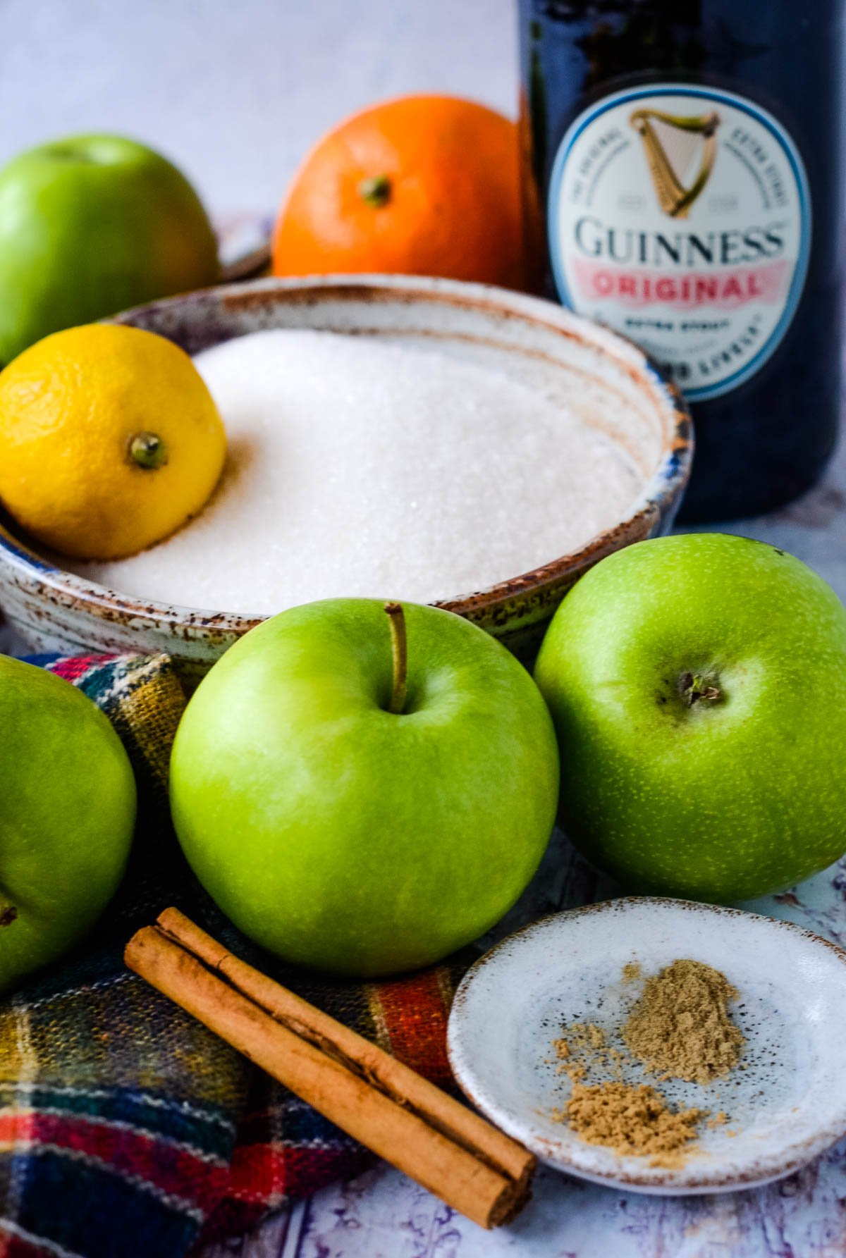 ingredients for Guinness jelly