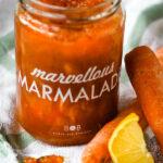 carrot and lemon marmalade pin image