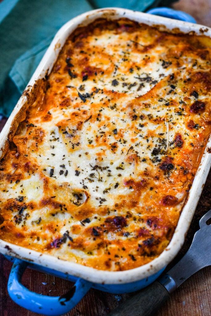 step by step how to make vegetarian lasagne