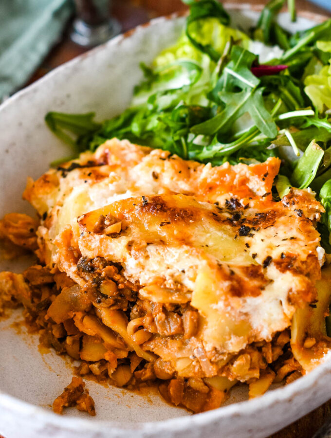 easy vegetarian lasagne