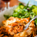 easy vegetarian lasagne pin image