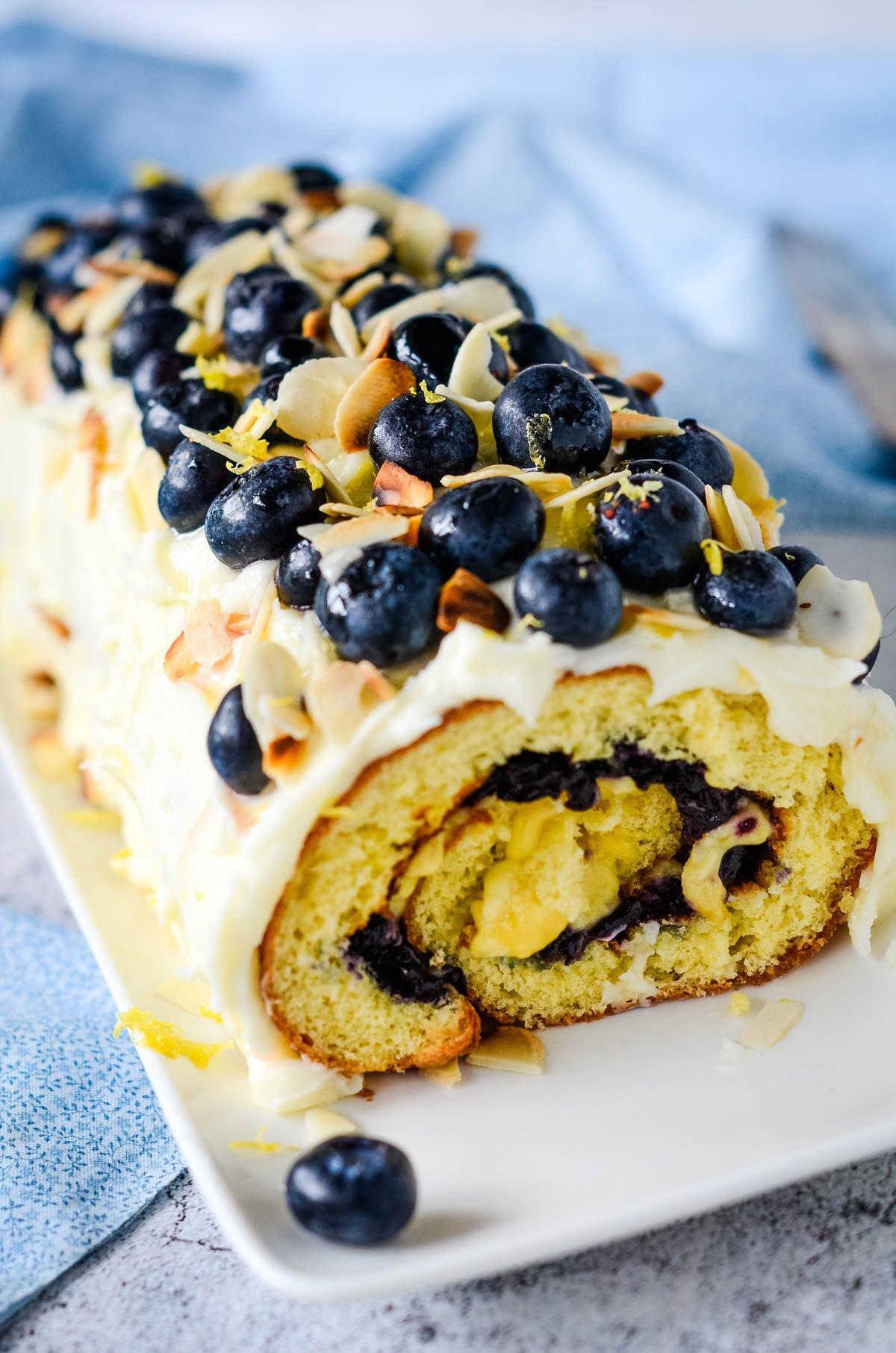blueberry and lemon roulade