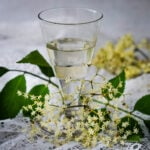 homemade elderflower liqueur