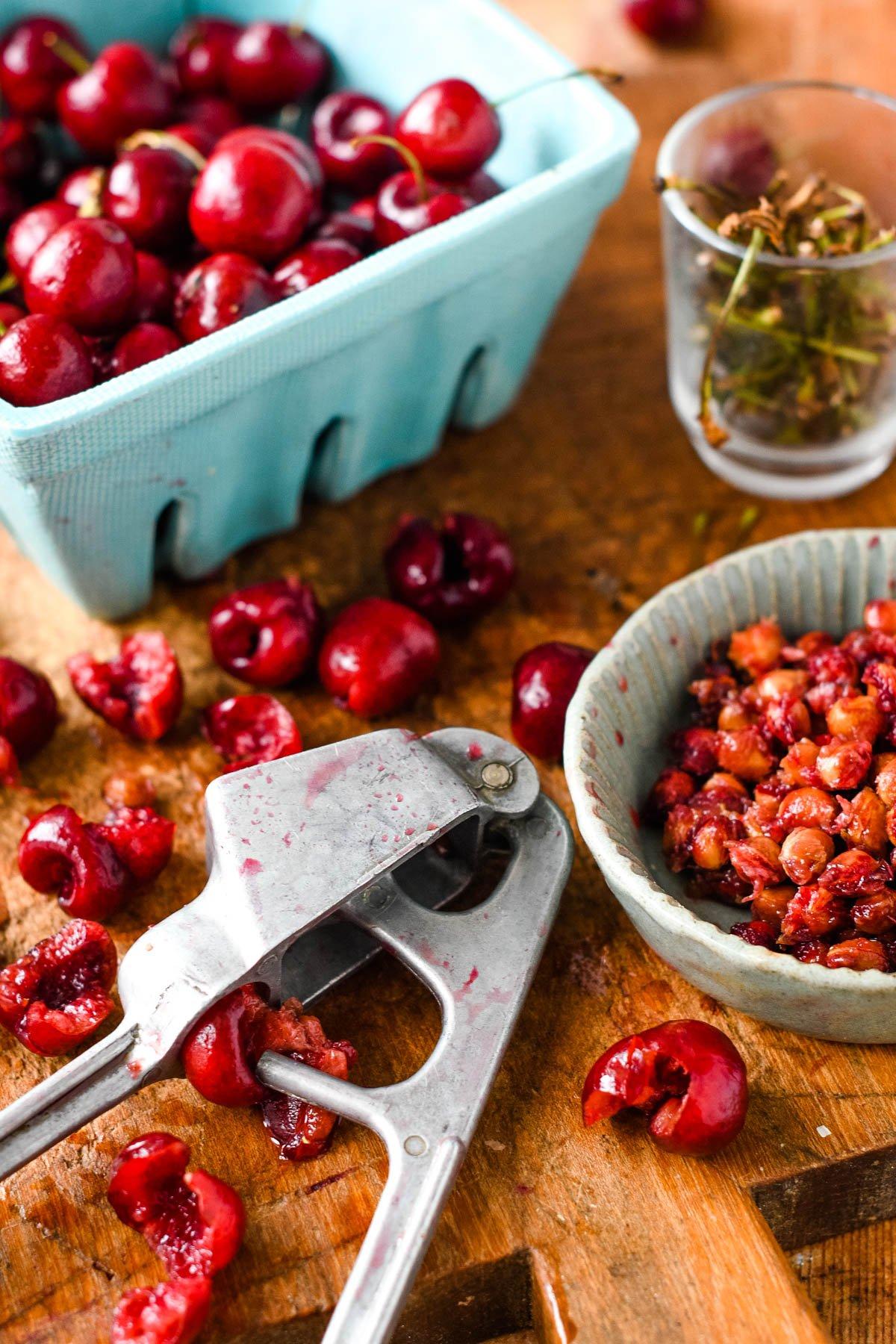stoning cherries