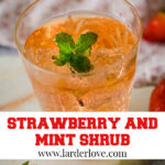 strawberry and mint shrub/cordial