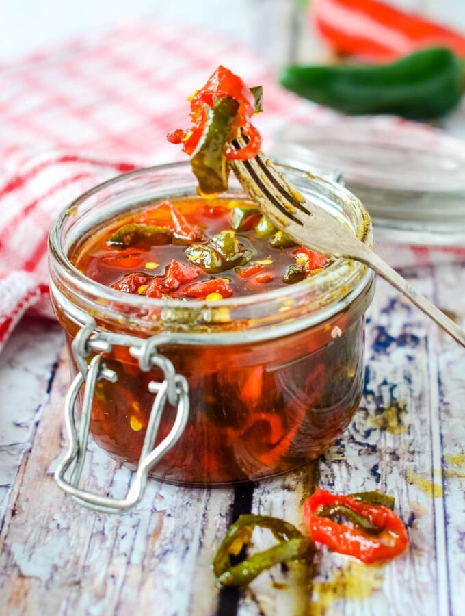 candied jalapenos in jar