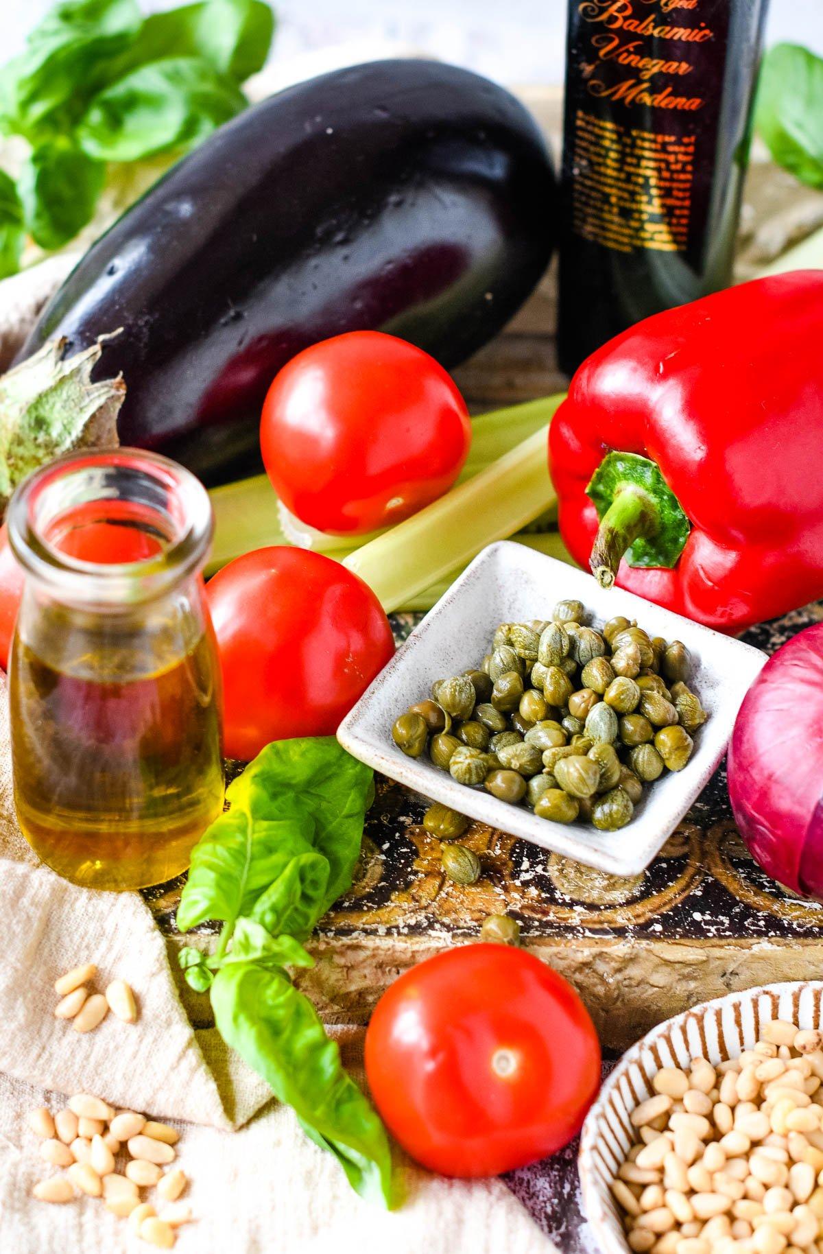 ingredients for caponata