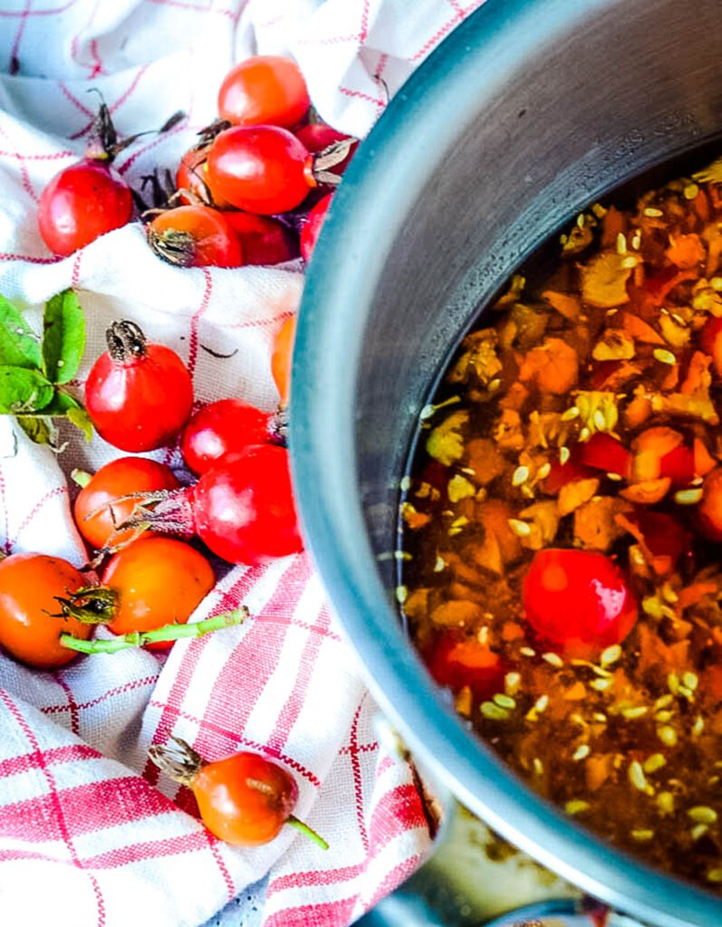 cooking the rosehips