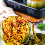 vegetarian curry stuffed peppers